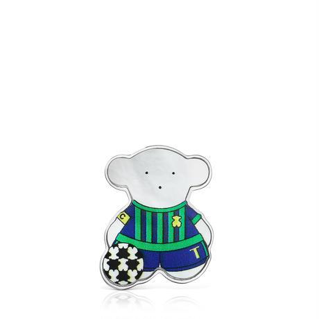 【日本限定品】ピンブローチ  SPORTS  くま  サッカー【018186520】