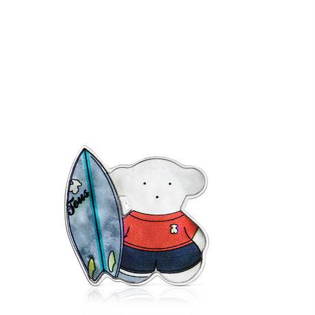 【日本限定品】ピンブローチ  SPORTS  くま  サーフィン【018186540】