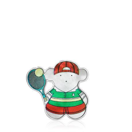 【日本限定品】ピンブローチ  SPORTS  くま  テニス【018186560】
