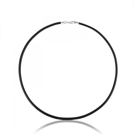 革チョーカーTOUS Chainsブラック 牛革 / シルバー / 3mm / 45cm(211902190)