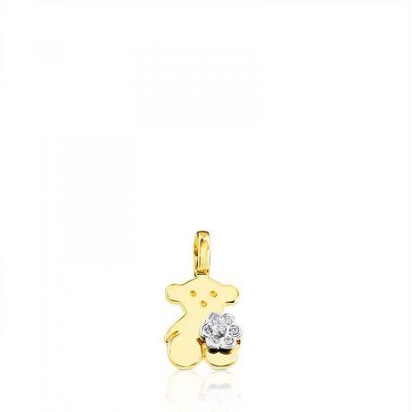 ペンダントFloraくま ダイヤモンド / 18金ゴールド / 10mm(217694000)