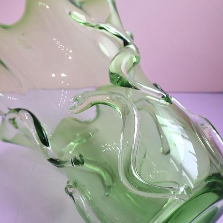 VINTAGE GLASS VASE