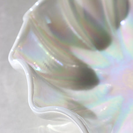 VINTAGE OPAL GLASS TRAY  (A)