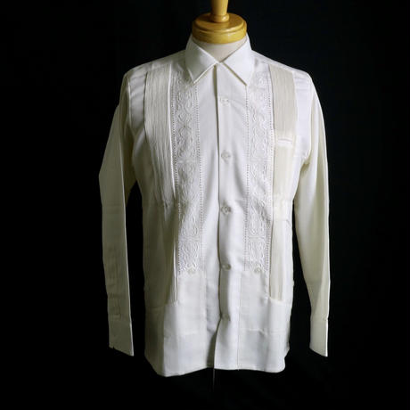 "[ESG-01L-OF] L/S GUAYABERA ""REJILLADA "" OFF WHITE"