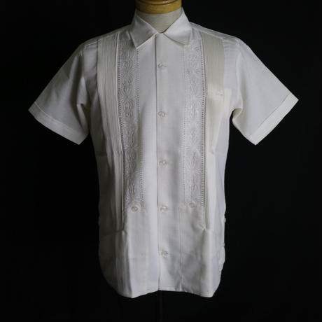 "[ESG-01S-OF] S/S GUAYABERA ""REJILLADA "" OFF WHITE"