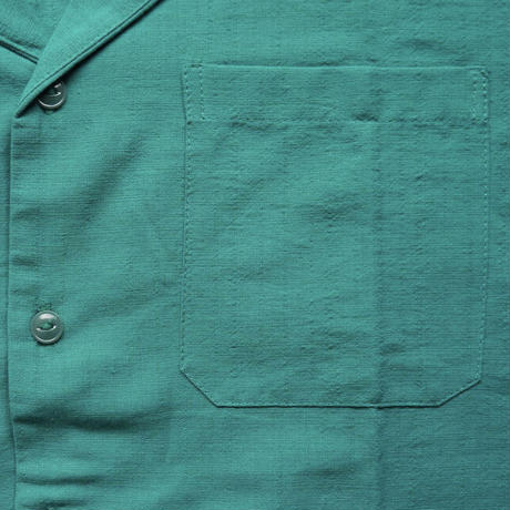 "[ESG-C03S-JA]  S/S GUAYABERA "" OPEN COLOR  "" JADE(GREEN)"