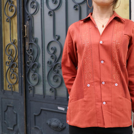 "[ESG01LOR] L/S ORANGE ""ORIGINAL GUAYABERA"""