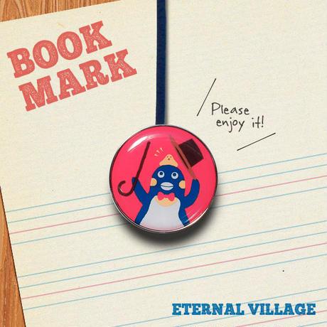 「手品を披露するペンギンのクリップ型ブックマーク」No.206