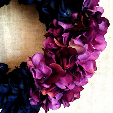 navy×purple wreath  φ25