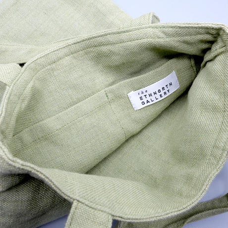 苗族手刺繍入りスモールトートバッグ (ライトグリーン)