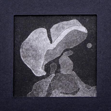 「冬日森林 S-02」V vv studio  銅版画作品