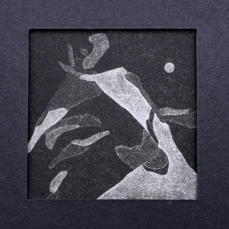 「冬日森林 S-01 」V vv studio  銅版画作品
