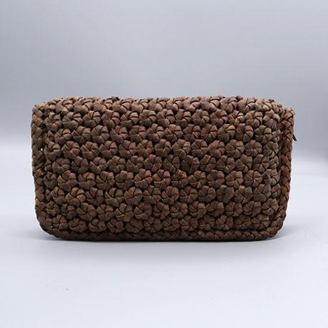 山葡萄長財布(六角花編み)