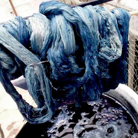 プイ族マーケットバッグ(ライトブルー)  Buyi Market Bag (Light Blue)