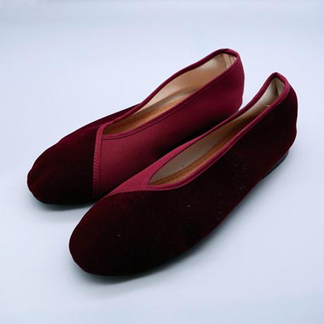ヴェルベットシューズ(赤)  Velvet shoes (Red)