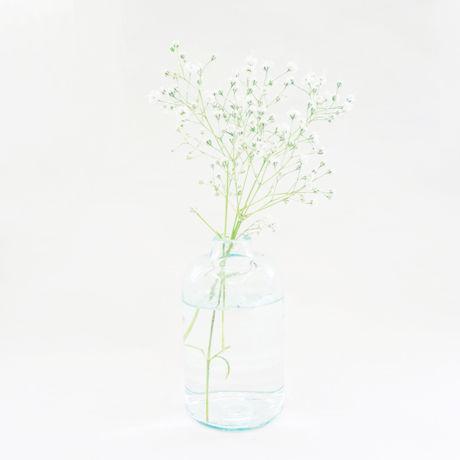 リサイクルガラスのフラワーボトル(L)  Recycle glass bottle (L)