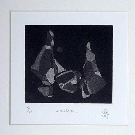 「山々 M-01」V vv studio  銅版画作品