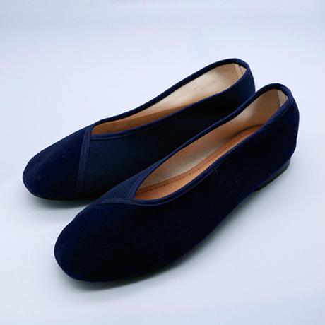 ヴェルベットシューズ(紺)Velvet shoes (Navy)