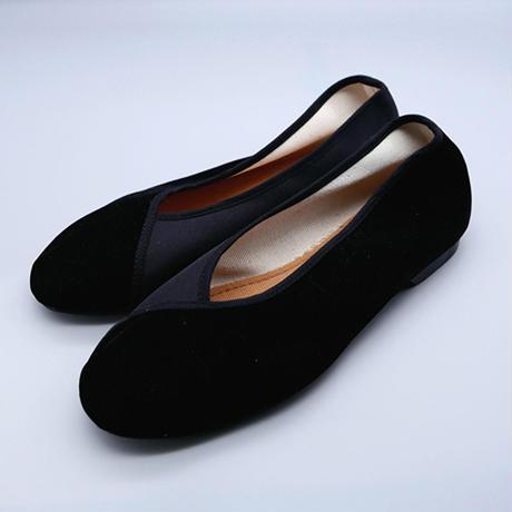 ヴェルベットシューズ(黒)  Velvet shoes (Black)