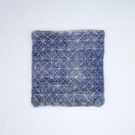 苗族藍染め刺し子敷物(S)