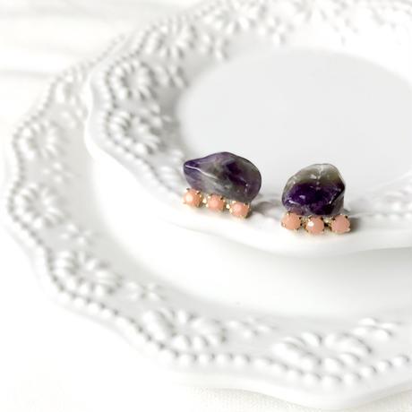 Gemstone pierce - Amethyst