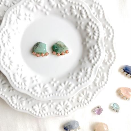 Gemstone pierce / earring - Aventurine