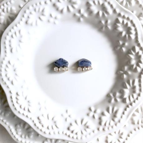 Gemstone pierce / earring  - Sodalite