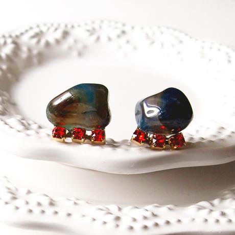 Gemstone pierces - Blue agate 4