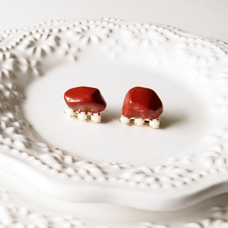 Gemstone pierces - Red Jasper
