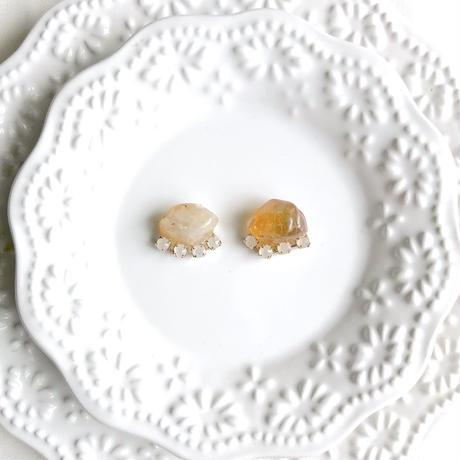 Gemstone pierce / earring - Citrin