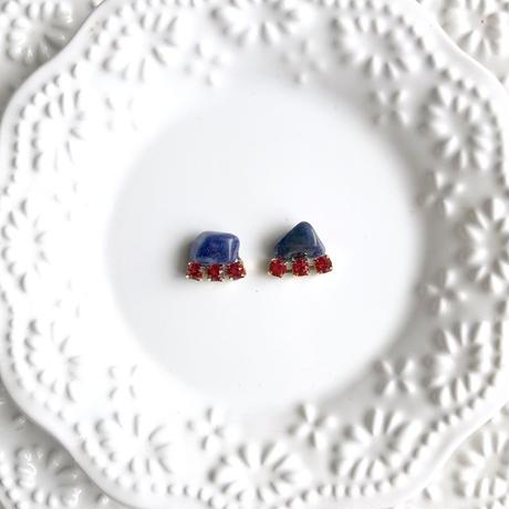 Gemstone pierce / earring - Sodalite  2