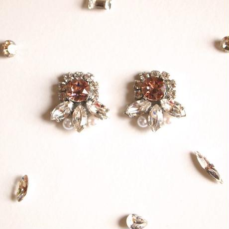 [Dress me up] Bijou pierce/earring - Vintage rose