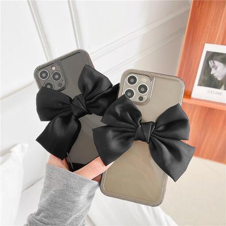 Big black ribbon iphone case