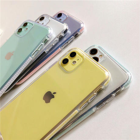 Simple color side clear iphone case