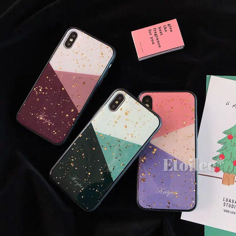 Color block glitter iphone case