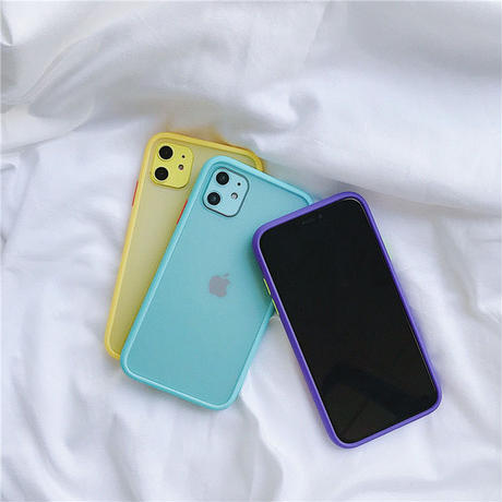 Yellow purple blue color side iphone case