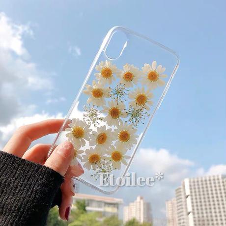 White flower iphone case