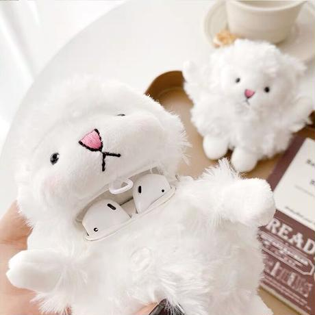 White sheep doll airpods case