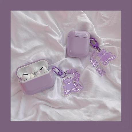 Purple bear strap iphone case