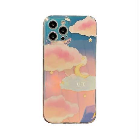 Moon cloud laser iphone case
