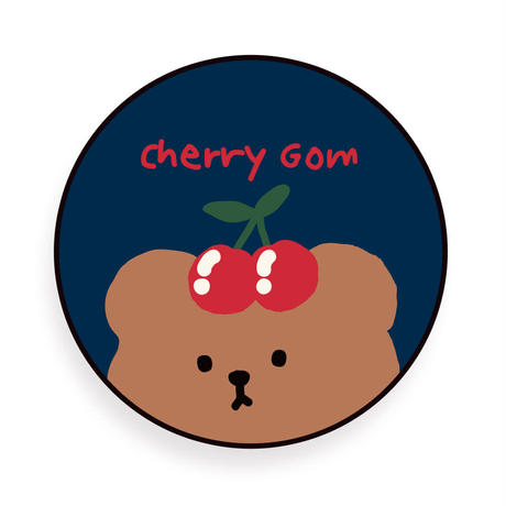 Cherrycherry bear hard with grip case (Navy)