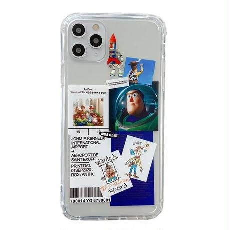 Cartoon scrap clear iphone case