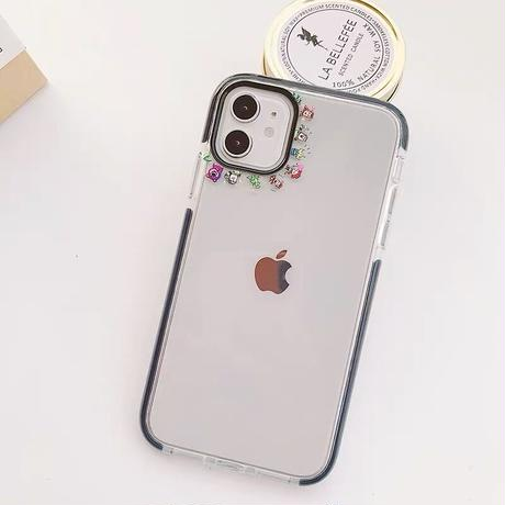 Cartoon small line clear iphone case
