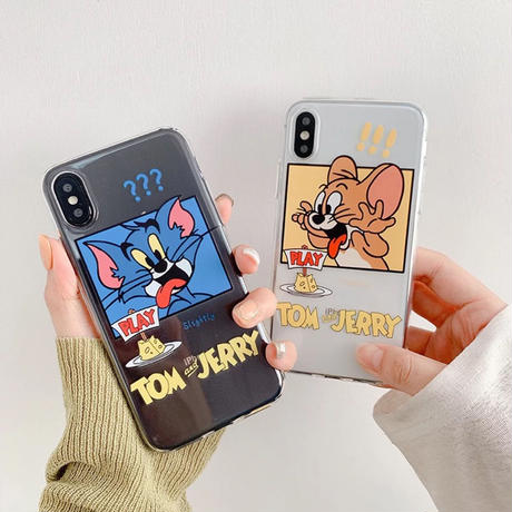 Mouse cat  yellow blue clear iphone case