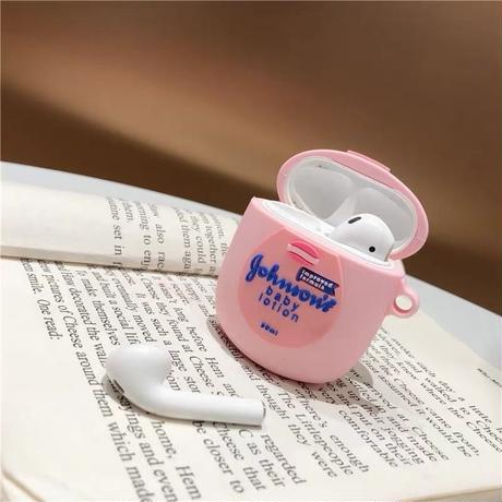 Pink lotion airpods case