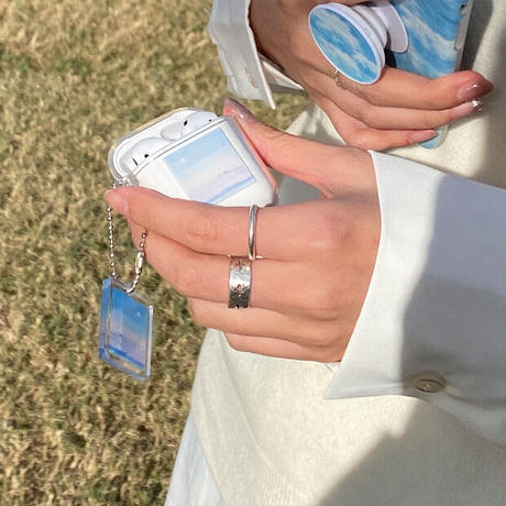 Today blue moon keyring airpods case