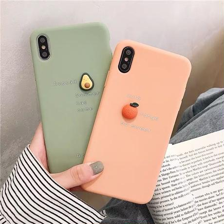 Avocado peach orange  iphone case