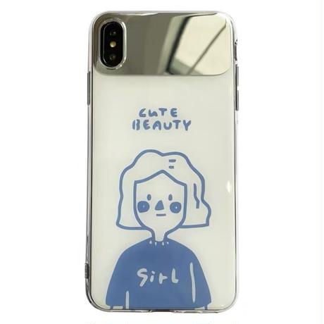 Boy and girl mirror  iphone case