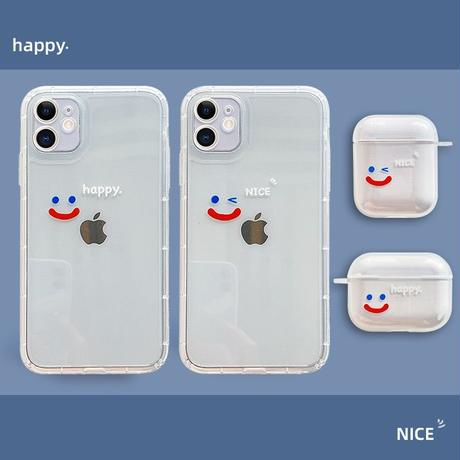 Happy nice smile clear iphone case