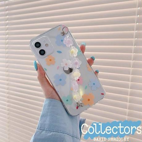Pastel flower strap iphone case